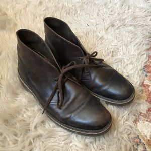 Clark's Brown Leather Desert Boots